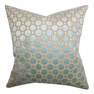 Kostya Velvet Throw Pillow Color: Blue, Size: 18 x 18