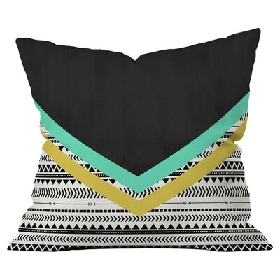 Mixed Aztec Outdoor Throw Pillow Size: 16 H x 16 W