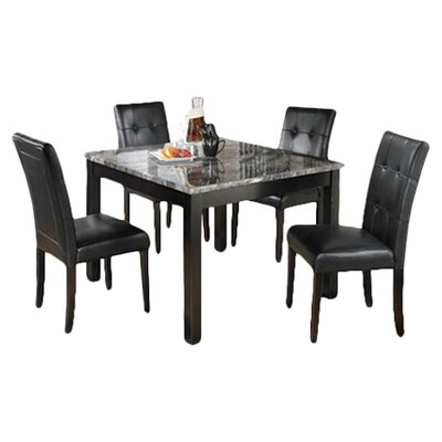 Maysville 5 Piece Dinette Set in Black & Grey