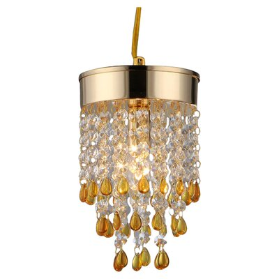 Jerrica 2-Light Crystal Chandelier