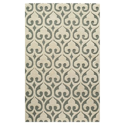 Layla Hand-Tufted Beige/Gray Area Rug Size: Rectangle 76 x 96