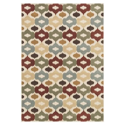 Shelton Red/Beige Area Rug Rug Size: 23 x 39