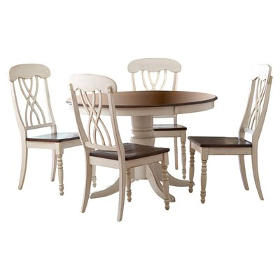 Alberta 5 Piece Dining Set Finish: White