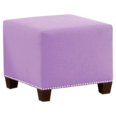 Frieda Cotton Duck Ottoman Color: Lilac