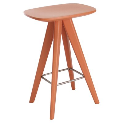 Annadale 26 Bar Stool Finish: Orange Lacquer