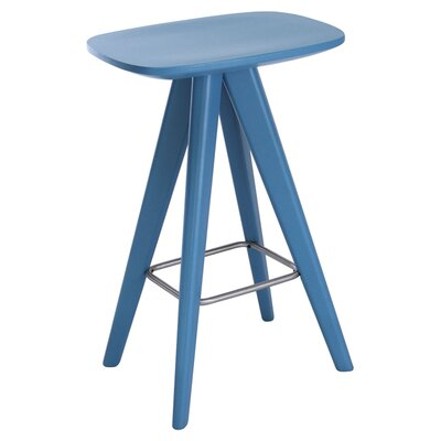 Annadale 26 Bar Stool Finish: Blue Lacquer