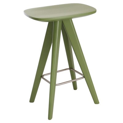 Annadale 26 Bar Stool Finish: Green Lacquer