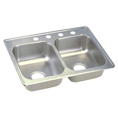 Dayton 25 x 19 Double Basin Top Mount Kitchen Sink
