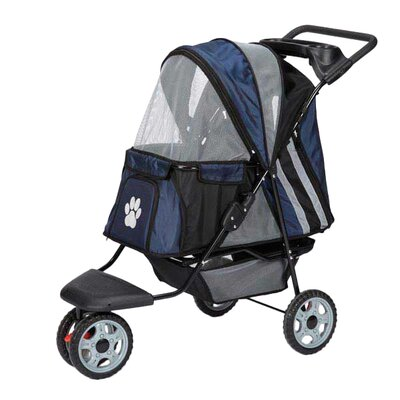 Roadster II Dog Jogger Pet Stroller Color: Navy