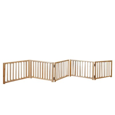 Freestanding Walk Over Pet Gate Size: 17.5 H x 48 x 110 W x 4.25 D, Style: 5 Panel
