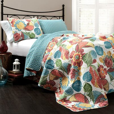 Carnuel 3 Piece Reversible Coverlet Set Size: King