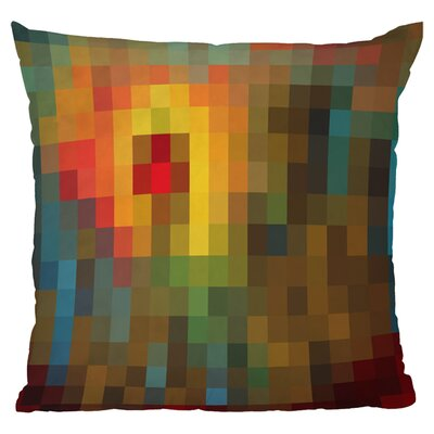 Madart Inc Glorious Colors Throw Pillow Size: 18 H x 18 W x 5 D