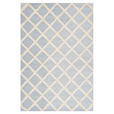Cambridge Hand-Tufted Wool Gray/Ivory Area Rug Rug Size: Rectangle 2 x 3