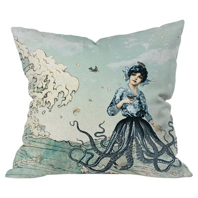 Belle13 Sea Fairy Throw Pillow Size: Medium