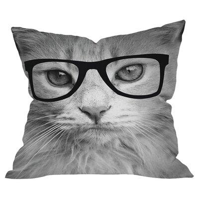 Hippest Cat Outdoor Throw Pillow