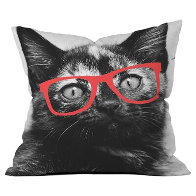 Cool Cat Outdoor Throw Pillow