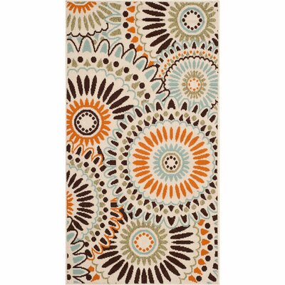 Caroline Indoor/Outdoor Rug in Chocolate Rug Size: Rectangle 4 x 57
