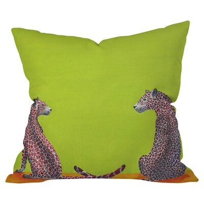 Clara Nilles Leopard Lovers Polyester Throw Pillow