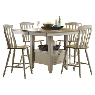 5-Piece Savannah Dining Set in Taupe & Driftwood