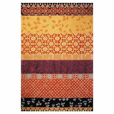 Rodeo Drive Rust/Gold Area Rug Rug Size: 76 x 96