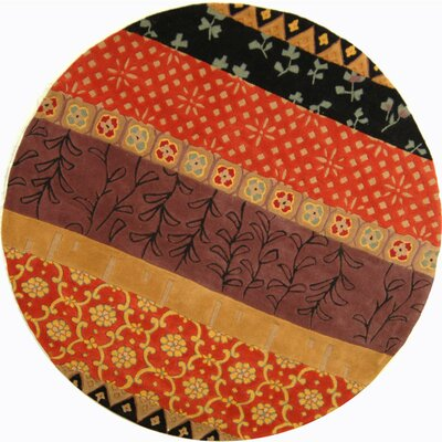 Rodeo Drive Rust/Orange Area Rug Rug Size: 79 Round