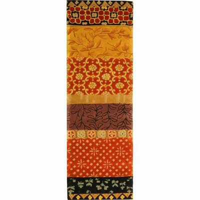 Rodeo Drive Rust/Orange Area Rug Rug Size: Runner 26 x 12