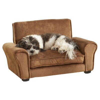 Ultra Plush Club Dog Sofa Color: Honey