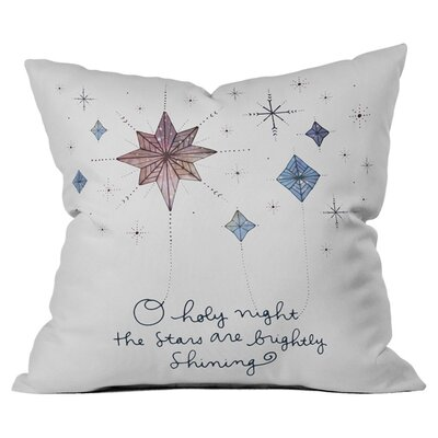 Holy Night Outdoor Throw Pillow Size: 18 H x 18 W x 4 D