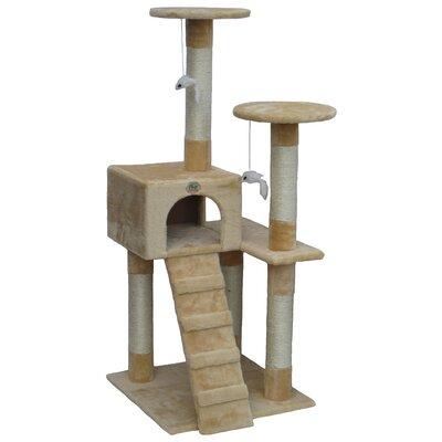 52 Cat Tree Color: Beige