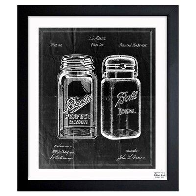 Mason Jar Framed Print, Oliver Gal Size: 12 H x 10 W
