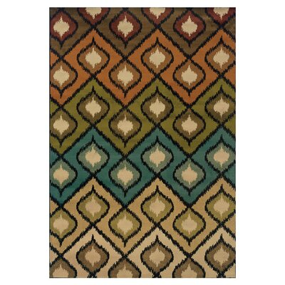 Caledonia Beige/Gold Area Rug Rug Size: Rectangle 710 x 10