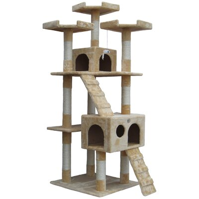 72 Mya Cat Tree Color: Beige
