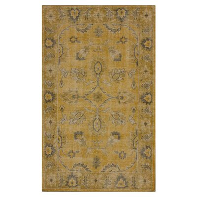 Julia Hand Knotted Wool Gold Area Rug Rug Size: Rectangle 5 x 8