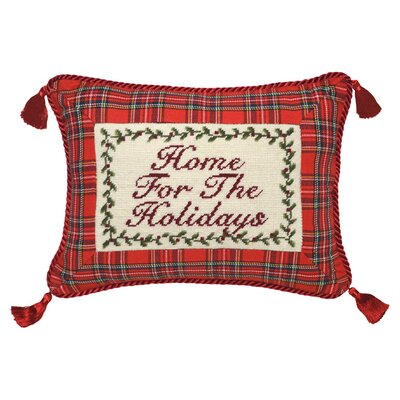 Home for The Holiday Wool Lumbar Pillow