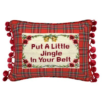 A Little Jingle Wool Lumbar Pillow