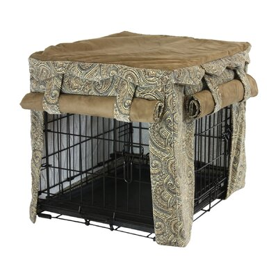 """Snoozer Cabana Pet Crate Cover II - Color: Sicily / Coffee, Size: Large (25"""" H x 23"""" W x 36"""" L) at Sears.com"""