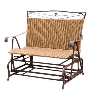 International Caravan Valencia Iron Wicker Resin Patio Glider Chair - Finish: Honey Pecan at Sears.com