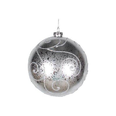 Ball Ornament Color: Silver, Size: 200 mm