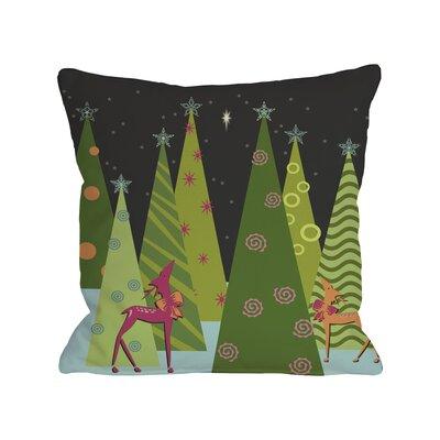Christmas Tree Parade Throw Pillow