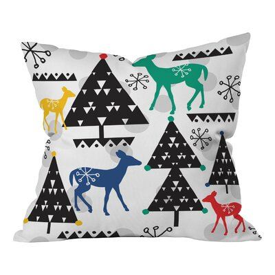 Zoe Wodarz Geo Woodland Trees Throw Pillow Size: Small