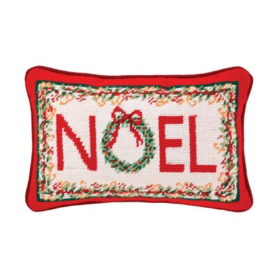 Needlepoint Noel Wool Throw Pillow