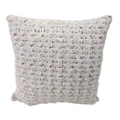 Bedford Cottage Rose Petal Faux Fur Throw Pillow - Color: Frost