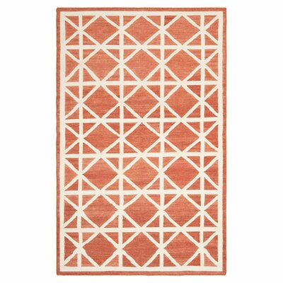 Dhurries Tan/Ivory Area Rug Rug Size: Rectangle 4 x 6
