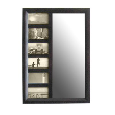 Bellissimo Wall Mounted Jewelry Armoire with Mirror Finish: Mahogany