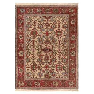 Zara Hand-Knotted Red/Brown Area Rug