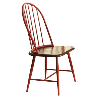 Shanilee Side Chair in Red & Brown (Set of 2)