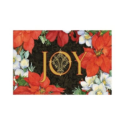 Poinsettia Doormat