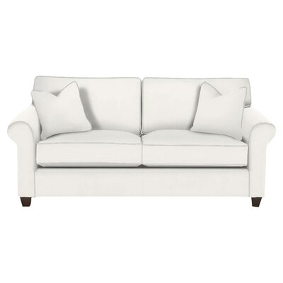 Eliza Sofa Body Fabric: Ranger Twill Optic White, Pillow Fabric: Classic Bleach White