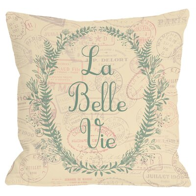 La Belle Vie Throw Pillow