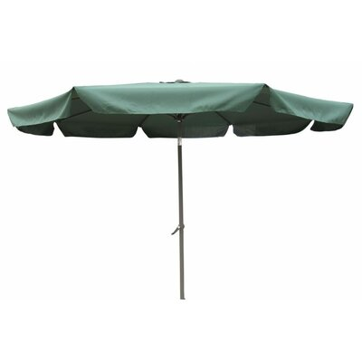 10 St. Kitts Drape Umbrella Fabric: Forest Green